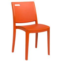 CHAISE CLIP GR Orange Brûlée