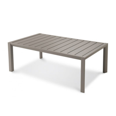 Table basse Grosfillex SUNSET 100×60 Aluminium Gris Platinium