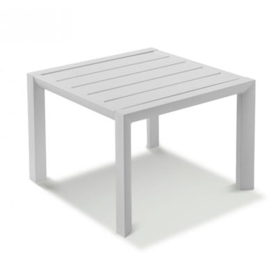 TABLE BASSE SUNSET 50×50 Aluminium Blanc