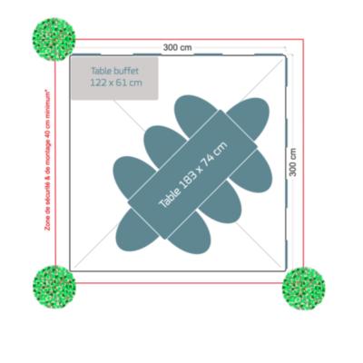 Pack réception 8 personnes – Table rectangulaire
