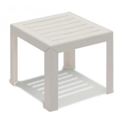 Table basse MIAMI Grosfillex 40×40 Blanc