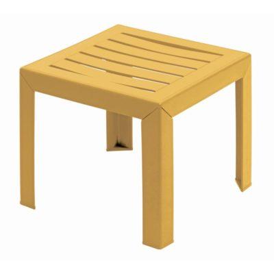 Table basse MIAMI Grosfillex 40×40 Jaune Indien