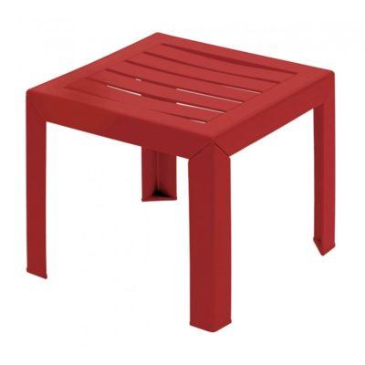 Table basse MIAMI Grosfillex 40×40 Rouge Bossa Nova
