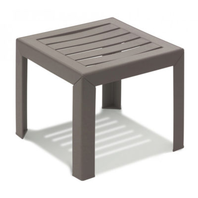 Table basse MIAMI Grosfillex 40×40 Taupe