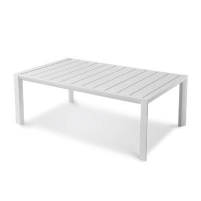 Table basse SUNSET Grosfillex 100×60 Aluminium Blanc Glacier