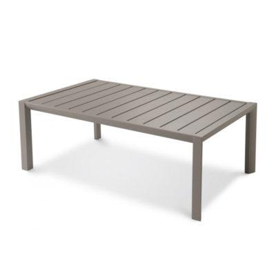 Table basse SUNSET Grosfillex 100×60 Aluminium Gris Platinium