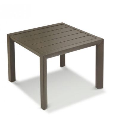 Table basse SUNSET Grosfillex 50×50 Aluminium Bronze Fusion