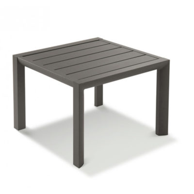 Table basse SUNSET Grosfillex 50×50 Aluminium Noir volcanique