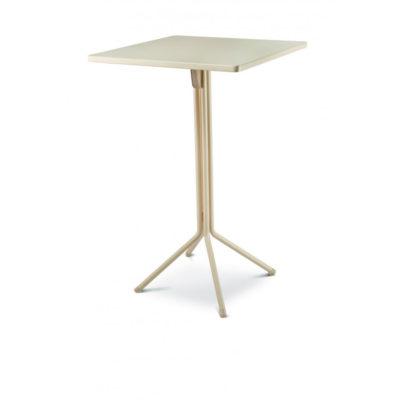 Table Haute DUO RAMATUELLE 73 Grosfillex 70x70cm Crème Absolue
