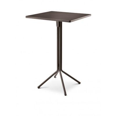 Table Haute DUO RAMATUELLE 73 Grosfillex 70x70cm Gris Pavement