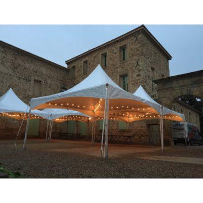 Location tente Garden 5x5m de réception 34 Hérault 30 Gard 11 Aude 66 Pyrénées Orientales 12 Aveyron