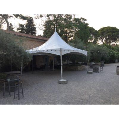 Location tentes Pagode 5x5m vin d'honneur 34 Hérault 30 Gard 11 Aude 66 Pyrénées Orientales 12 Aveyron